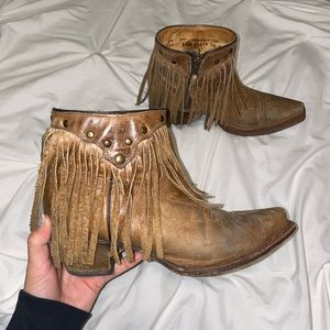 Corral fringe booties women size 6.5
